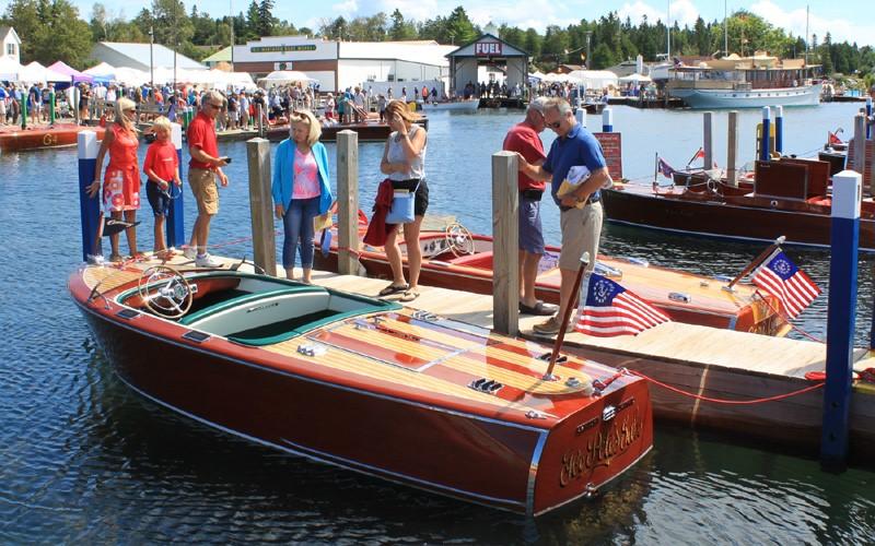 """""""For Pete's Sake"""" 1947 17'6"""" Century Seamaid Chris & Liisa Morley Petoskey, Michigan"""