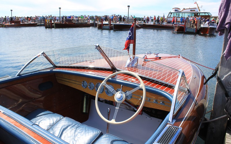 """Legend"" a 23' 1942 Chris Craft Custom Runabout the only year for silver gauges Brent Gatecliff Waterford, Michigan"