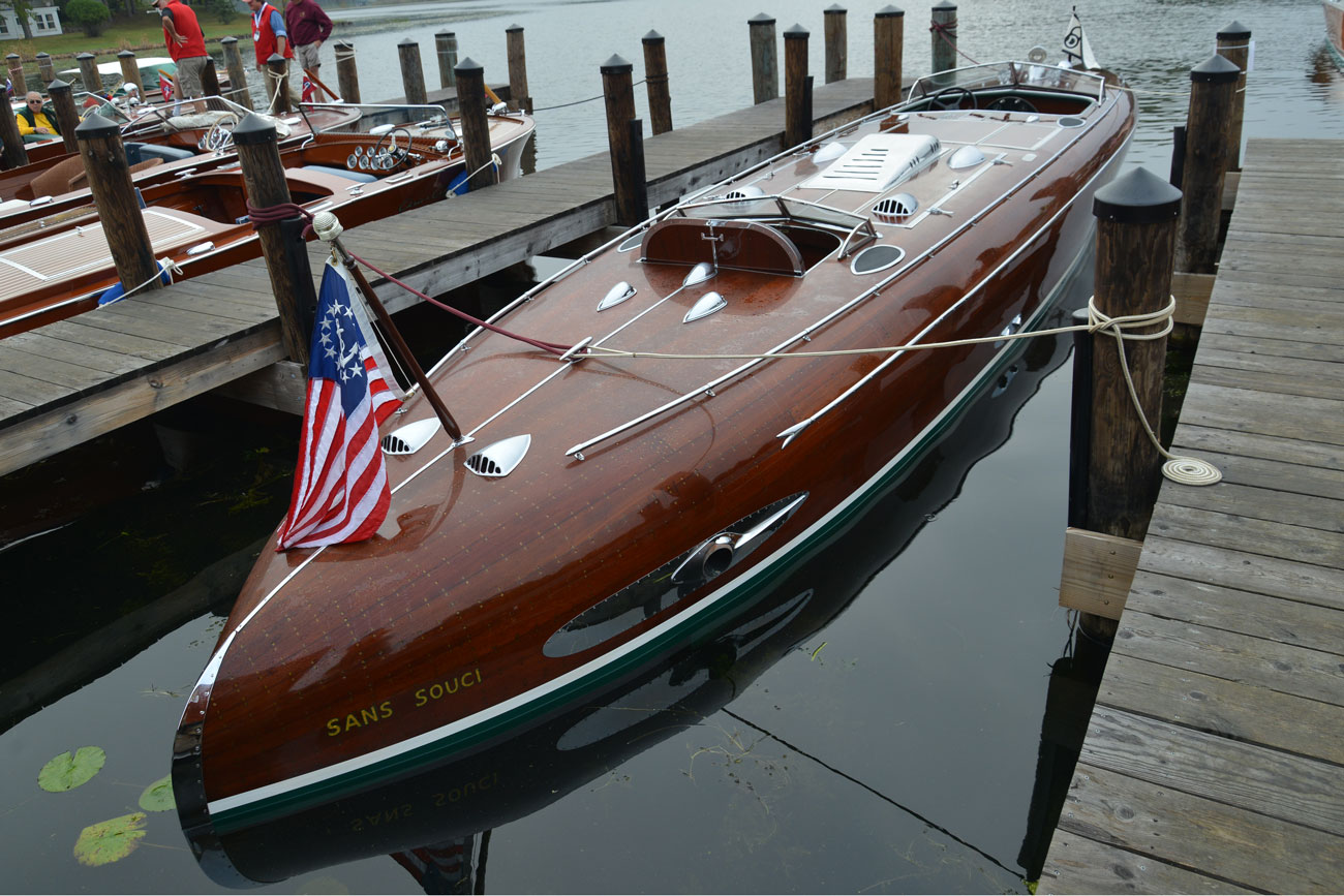 2015 acbs gold restored antique runabout mammel acbs for Chris craft boat club