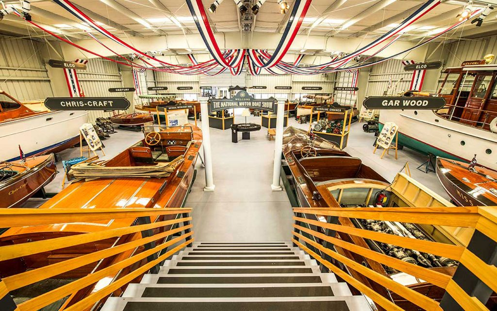 Antique Boat Museum showroom