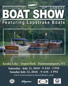 36th Annual Antique Boat Show hosted by Wine Country @ Keuka Lake, Depot Park | Hammondsport | New York | United States