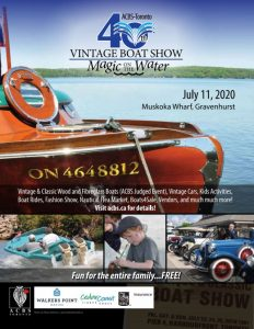 CANCELLED - 40th Annual Vintage Boat Show @ Muskoka Wharf
