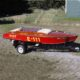 RIOT - 1950 E Service Davis Bros inboard vintage race boat,