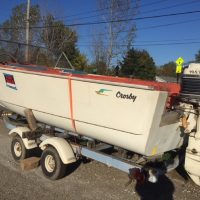 SOLD!!!- 1960 Crosby, 19' twin 400 Mercs, trailer with new tires