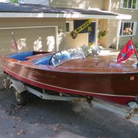 1949 17'  chris craft special runabout