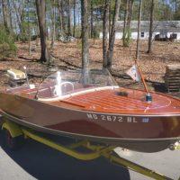 1958 Berglund Sport Flyte boat, motor & trailer